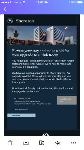 Sheraton Amsterdam Email
